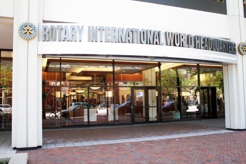 Entrada da sede de Rotary Internacional